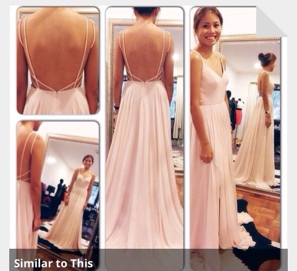 dress pink dress prom dress long prom dress backless prom dress light pink