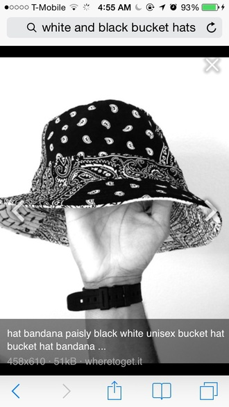 hat black hat bucket hat printed bucket hat