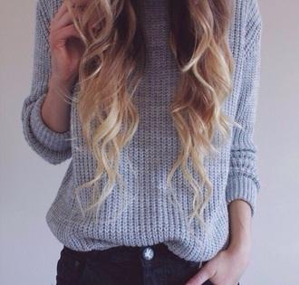 sweater grey knit style grey sweater knitsweater fall outfits fall sweater