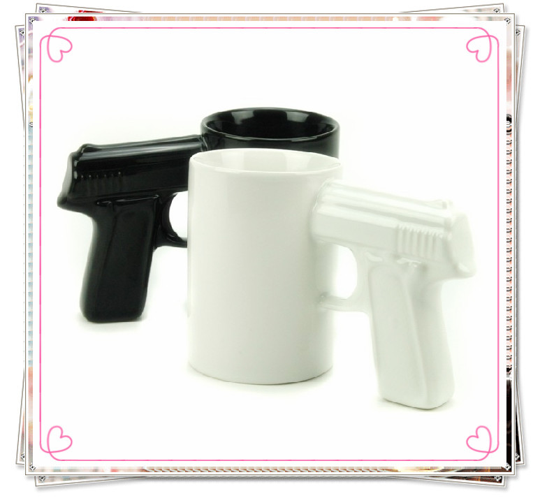 New Arrival 2014 Pistol Cup,Gun Mug,Mugs Have 6 Different Styles Handle Ceramic Coffee Mug ,Wholesale  Cups-in Mugs from Home & Garden on Aliexpress.com