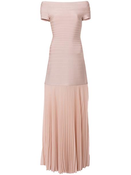 herve leger dress long dress long women spandex purple pink