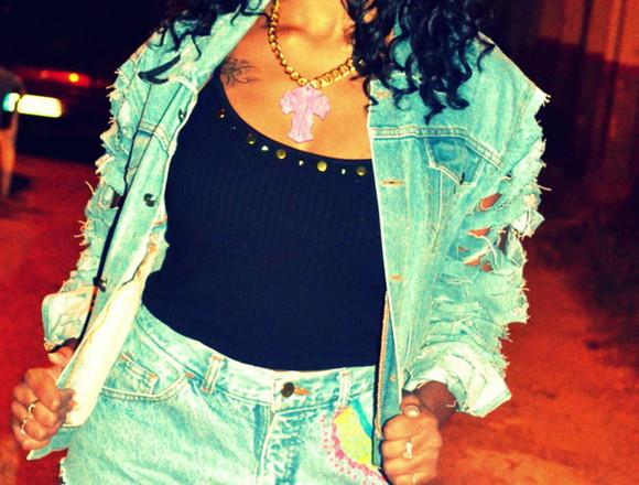veste bleu denim denim jacket
