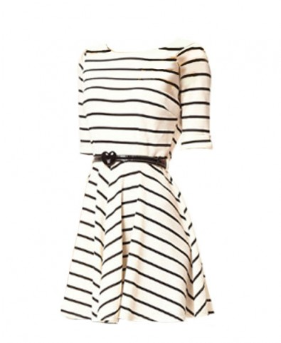 Skater Dress in Stripe Design