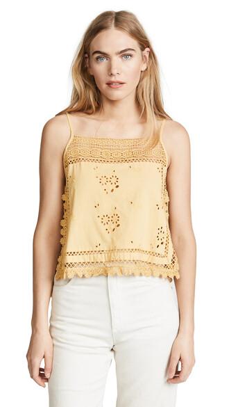 blouse garden party yellow top