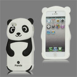 Lovely 3D Panda Silicone Case Cover for iPhone 5 - Black - iPhone 5 Silicone Cases