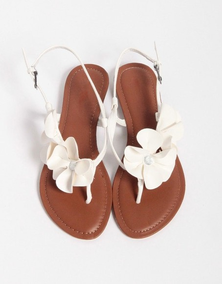 shoes sandals flat sandals flowers flower shoes white flower sandal heels flower sandals