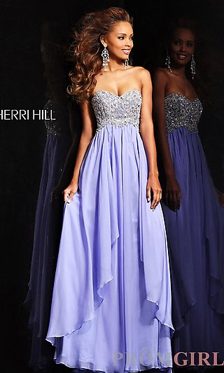 Prom Dresses, Celebrity Dresses, Sexy Evening Gowns - PromGirl: Full Length Strapless Sweetheart Gown