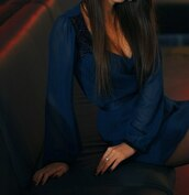 dress,mini dress,dark blue,blue,beautifil
