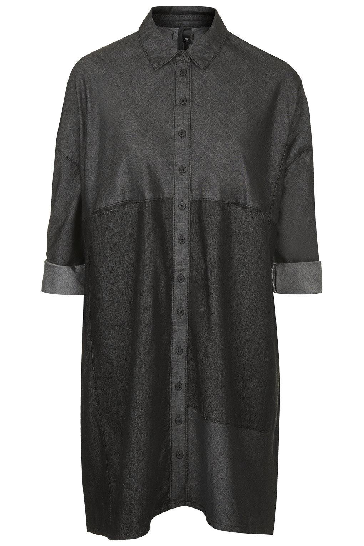Denim panel dress by boutique