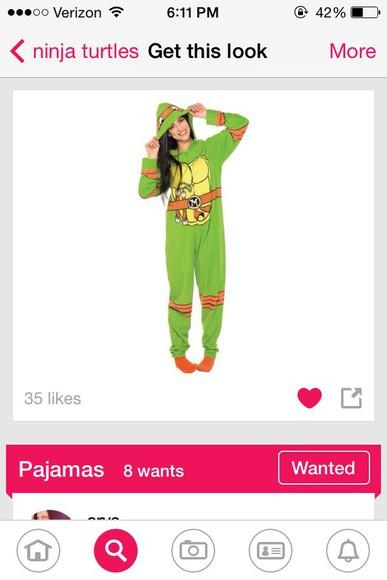girl pajamas tmnt onsies cute