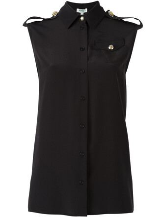 shirt sleeveless shirt sleeveless women black silk top