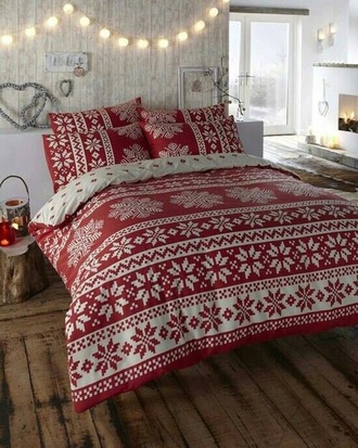 home accessory bedding holiday season bedroom snowflake heart lighting