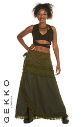 skirt,gekko london,green,green skirt,long skirt,boho,boho chic,oho skirt,gypsy skirt,wrap,wrap skirt,gipsie,gyspie skirt,festival,festival skirt,goth,goth skirt,gothic skirt,steampunk,steampunk style,steampunk skirt,cotton,cotton skirt,crochet,crochet skirt,lace,lace skirt