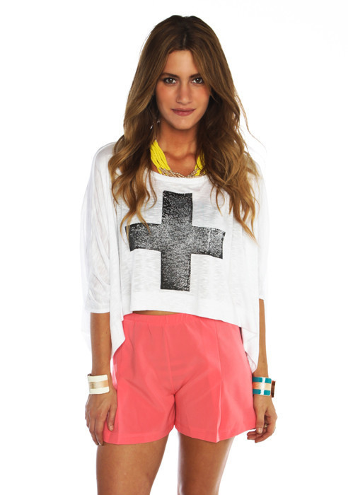 White Cross Top - Furor Moda - Tops - Dresses - Jackets - Vintage