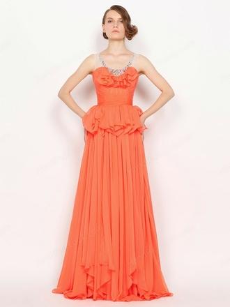 dress orange dress orange evening dress orange skirt prom dress handpicklook.com