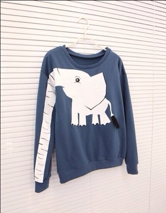 sweater elephant animals safari poster handbag a gogo fashion sweatshirt jack wills.com hollister topshop primark