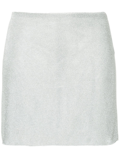 Kacey Devlin skirt mini skirt mini women grey metallic