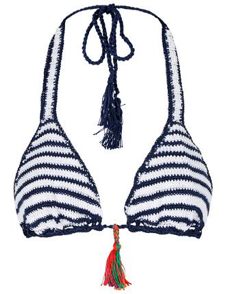 bikini bikini top crochet bikini sailor crochet white swimwear