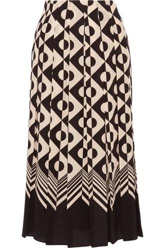 skirt midi skirt pleated midi black silk