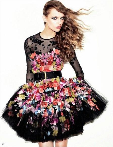 lace dress flowers dress