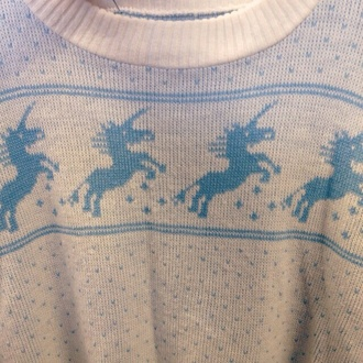 kawaii unicorn pastel blue kawaii sweater sweater