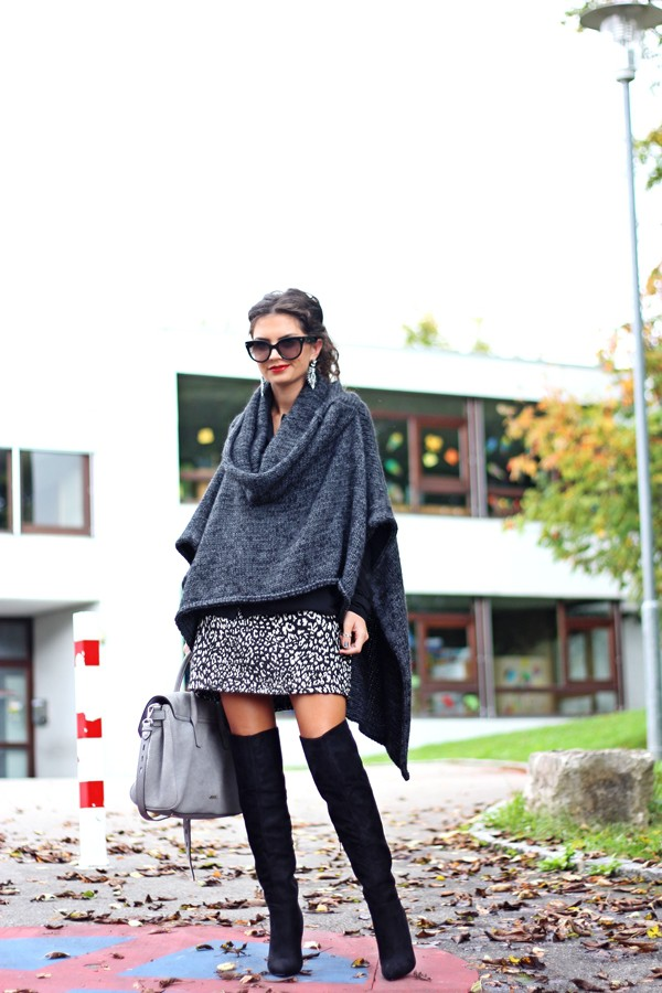 fashionhippieloves blogger blouse bag coat knitwear knee high boots