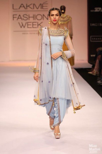 Dress Lakme Fashion Week Designer Salwar Suit Indian Wedding Bridesma