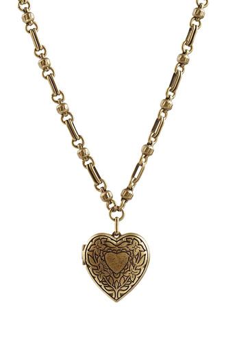 heart necklace gold jewels