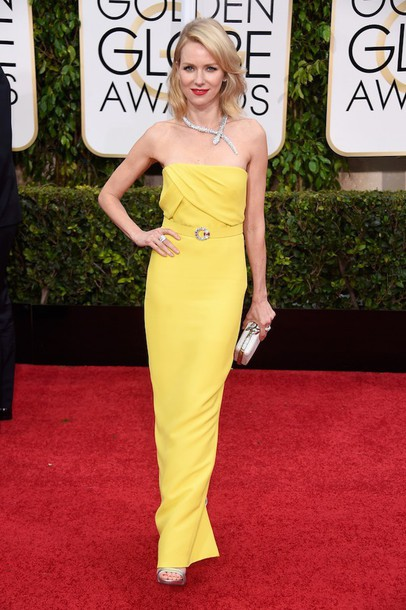 dress naomi watts Golden Globes 2015