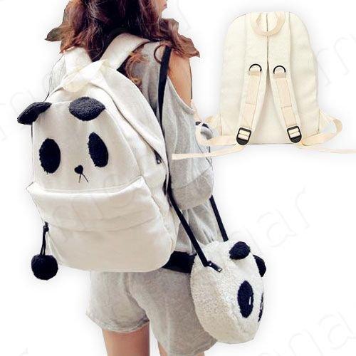 2 pieces, corudory panda mignon sac