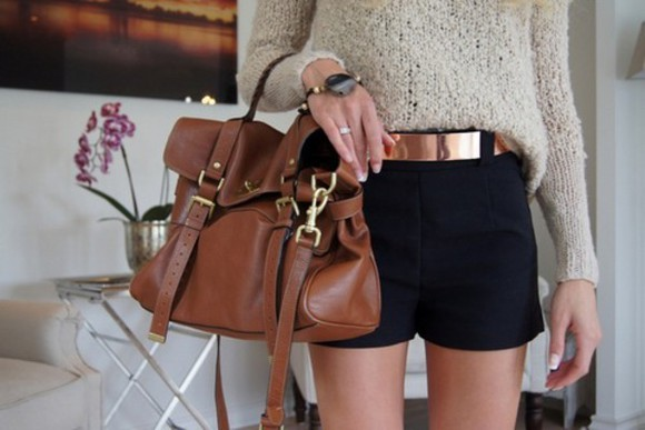 girly fashion style bag bag purses brown bag