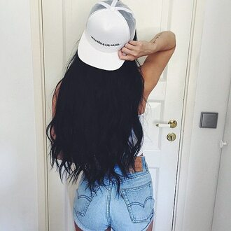 hat maniere de voir cap snapback mesh white amanda