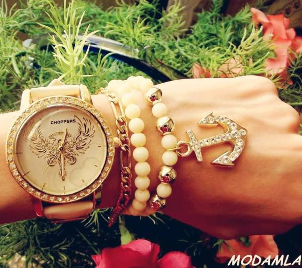 jewels set bracelets gold watch