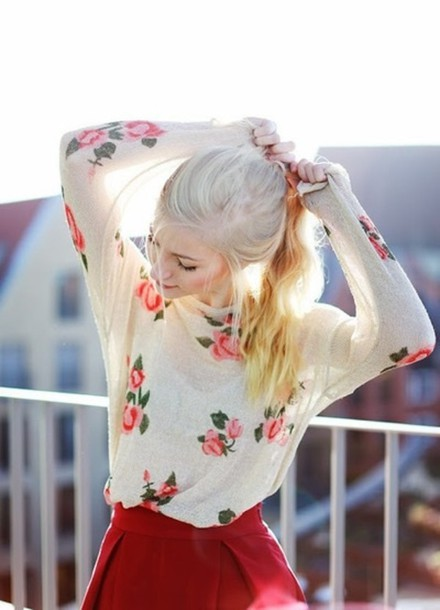 sweater floral