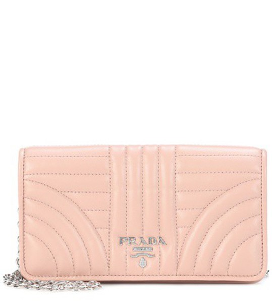Prada bag shoulder bag leather pink