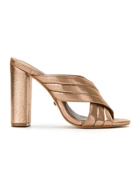 metallic women mules grey shoes