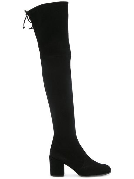 STUART WEITZMAN women suede black shoes