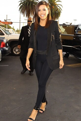 leggings sandals eva longoria jacket blazer shoes