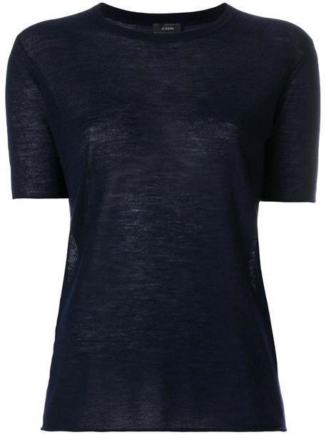Joseph jumper cashmere jumper short women blue sweater