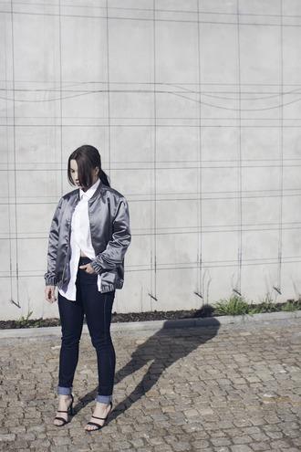 danny rose blogger jacket black sandals bomber jacket shiny