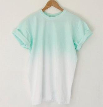 shirt tees blue women tshirts ombre top blue shirt ombre