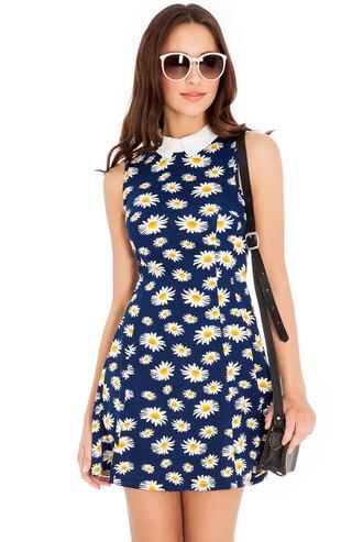 dress skater dress daisy versatile cute