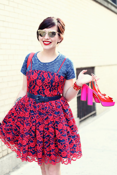 keiko lynn dress sunglasses shoes belt shirt jewels