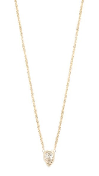 paris short clear necklace pendant gold jewels