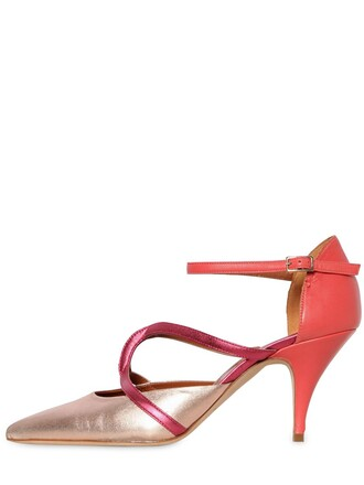 metallic pumps leather rose gold rose gold pink shoes