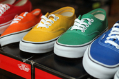 shoes,vans,red,orange,yellow,green,blue,trainers