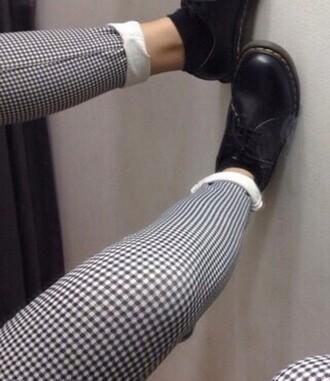 pants grid black and white grunge shoes grunge pants style grunge wishlist