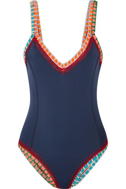 KIINI navy crochet swimwear