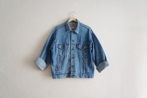 vestes veste en jean levis ann es 80 blouson en denim. Black Bedroom Furniture Sets. Home Design Ideas