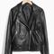 & other stories   biker leather jacket   black